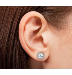 Caraters Glamour 0.70 cts (x2) F VS Princess Cut Diamonds