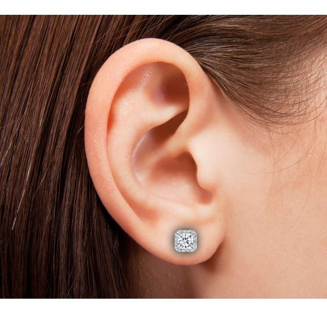 GIA Glamour 0.50cts (x2) F VS2 Princess Cut Diamond