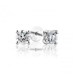 0.40 cts (x2) F VS Round Brilliant Diamonds