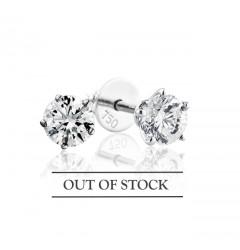 0.70 cts (x2) F VS Round Brilliant Diamonds