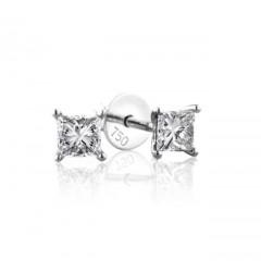 0.70 cts (x2) D VS Princess Cut Diamonds