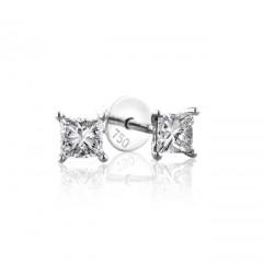 0.50 cts (x2) F VS Princess Cut Diamonds