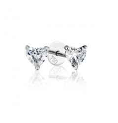 0.70 cts (x2) F VS Heart Brilliant Diamonds