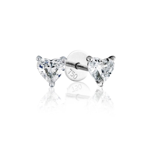 0.50 cts (x2) E VVS Heart Brilliant Diamonds