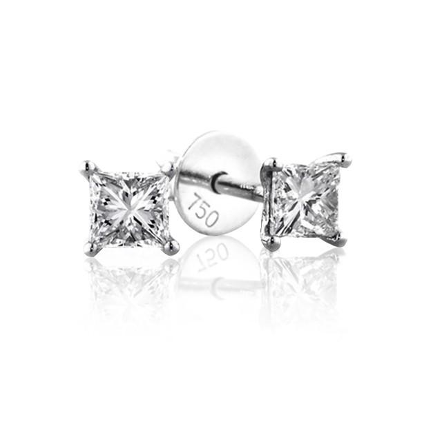 1.00 cts (x2) F VS Princess Cut Diamonds