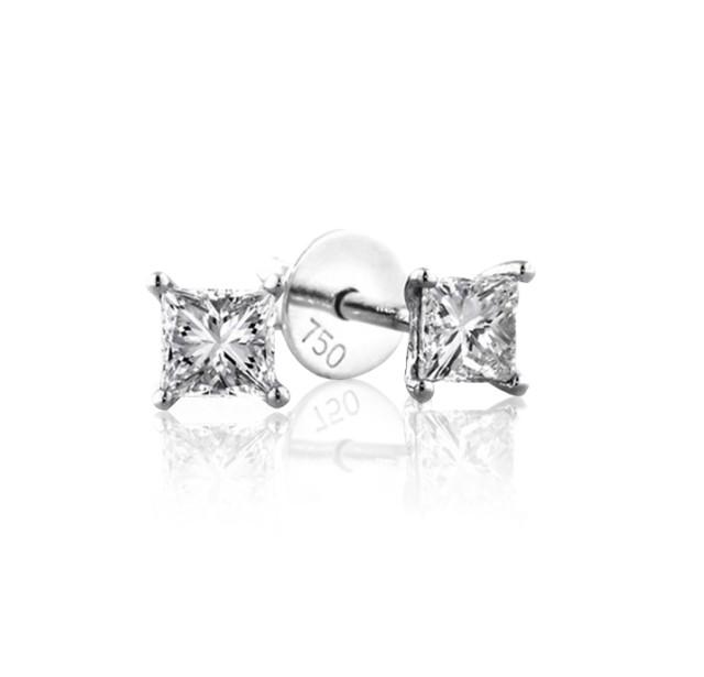 GIA Certified 0.50 cts (x2) F VS2 Princess Cut Diamonds