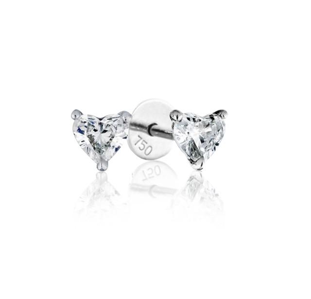 GIA Certified 0.50cts (x2) F VS1 Heart Shaped Diamond
