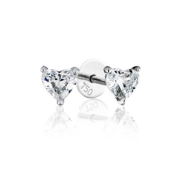 GIA Certified 0.70cts (x2) F VS2 Heart Shaped Diamond