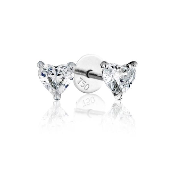 GIA Certified 0.90cts (x2) F VS1 Heart Shaped Diamond