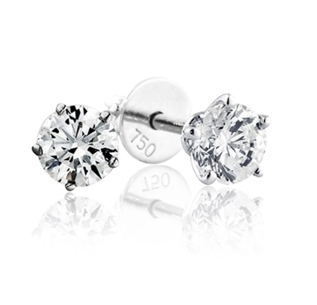 GIA Certified 1.21 cts (x2) F VS1 Round Brilliant Diamonds