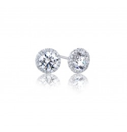 Caraters Glamour 0.30 cts (x2) D VS Round Brilliant Diamonds