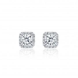 Caraters Glamour 0.30cts E VS Princess Cut Diamonds