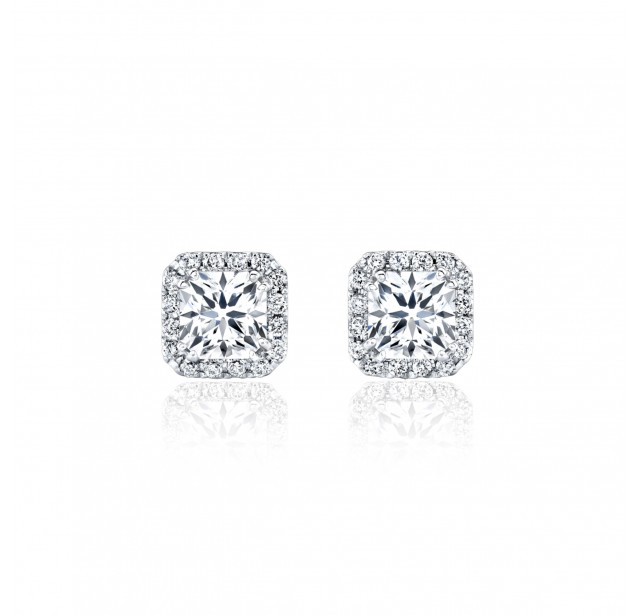 Caraters Glamour 0.30cts (x2) E VS Princess Cut Diamonds