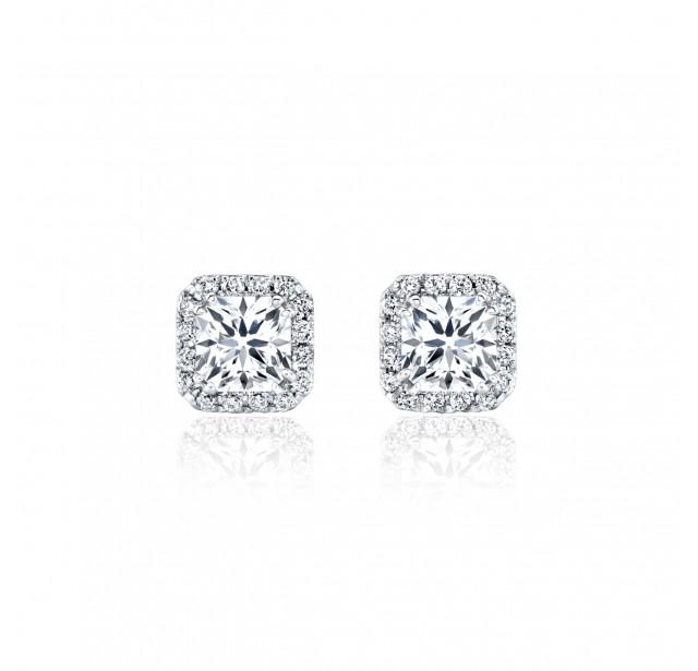 Caraters Glamour 0.30 cts (x2) F VVS Princess Cut Diamonds