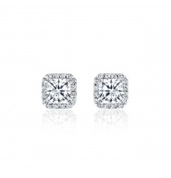 Caraters Glamour 0.30 cts (x2) G VS Princess Cut Diamonds