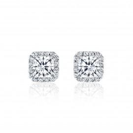 Caraters Glamour 0.50 cts F VS Princess Cut Diamonds