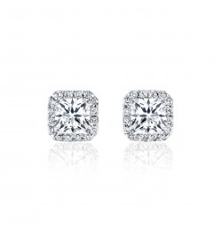 Caraters Glamour 0.50 cts F VS Princess Cut Diamonds