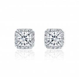 Caraters Glamour 0.70 cts E VS Princess Cut Diamonds