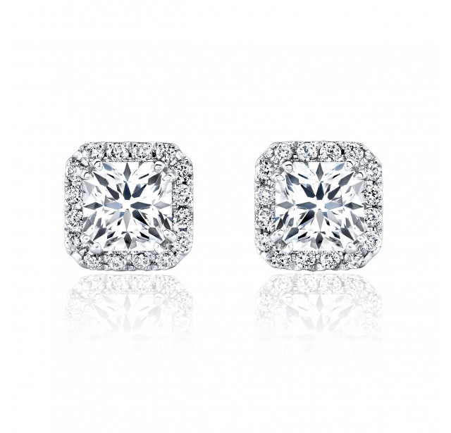 Caraters Glamour 1.00 cts (x2) F VS Princess Cut Diamonds