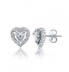 Caraters Glamour 0.50 cts (x2) E VVS Heart Brilliant Diamonds