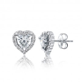 Caraters Glamour 0.50 cts F VVS Heart Brilliant Diamonds