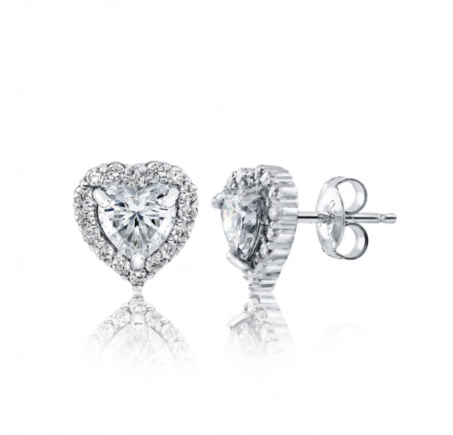 Caraters Glamour 0.50 cts (x2) F VS Heart Brilliant Diamonds