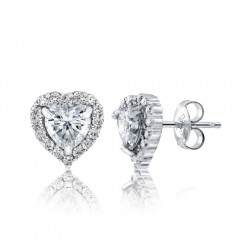 Caraters Glamour 0.70 cts (x2) E VS Heart Brilliant Diamonds