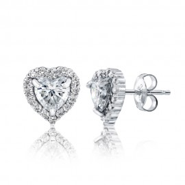 Caraters Glamour 0.70 cts F VS Heart Brilliant Diamonds