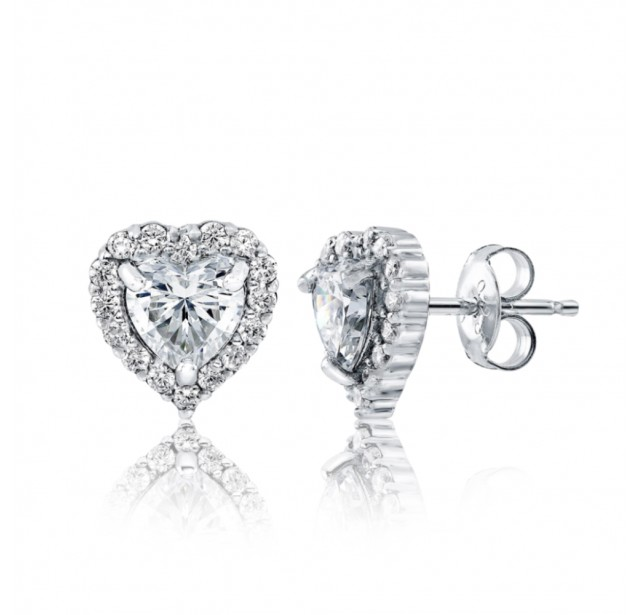 Caraters Glamour 0.70 cts (x2) F VS Heart Brilliant Diamonds