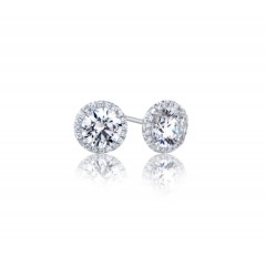 GIA Glamour 0.34cts (x2) E VS1 Round Brilliant Diamond