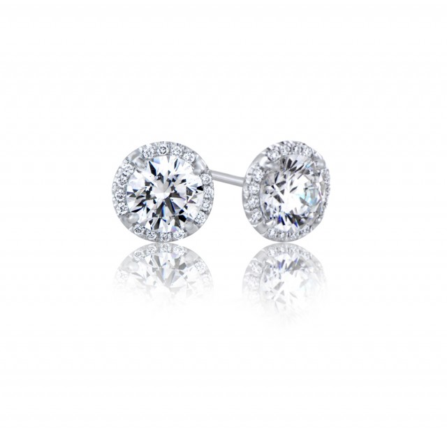 GIA Glamour 0.50cts (x2) E VS1 Round Brilliant Diamond
