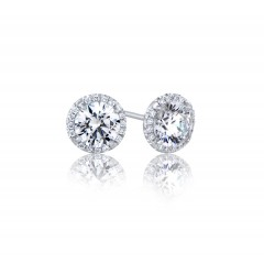 GIA Glamour 0.50cts (x2) F VS1 Round Brilliant Diamond