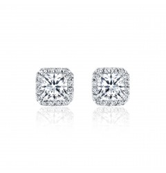 GIA Glamour 0.50cts (x2) F VS1 Princess Cut Diamond