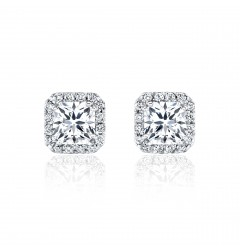 GIA Glamour 0.70cts (x2) F VS1 Princess Cut Diamond