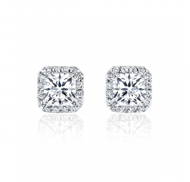 GIA Glamour 0.70cts (x2) F VS2 Princess Cut Diamond