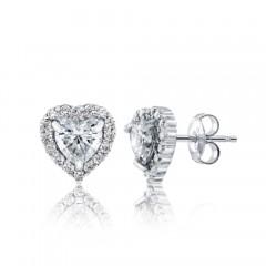 GIA Glamour 0.50cts (x2) F VS2 Heart Shaped Diamond