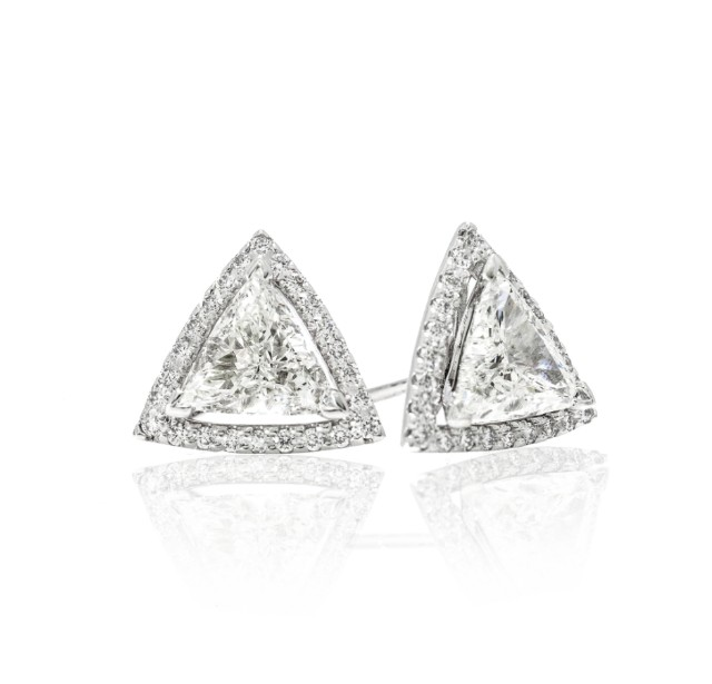 Caraters Glamour 0.70 cts (x2) E VS Trilliant Diamonds