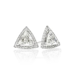 Caraters Glamour 0.90 cts (x2) F VS Trilliant Diamonds
