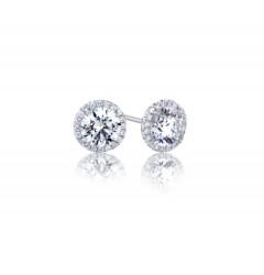 GIA Glamour 0.32cts (x2) F VVS1 Round Brilliant Diamond