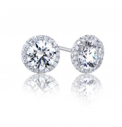GIA Glamour 1.21 cts (x2) F VS1 Round Brilliant Diamonds