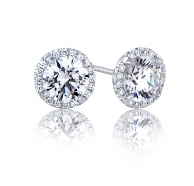 GIA Glamour 1.28 cts & 1.31 cts E VVS2 Round Brilliant Diamonds
