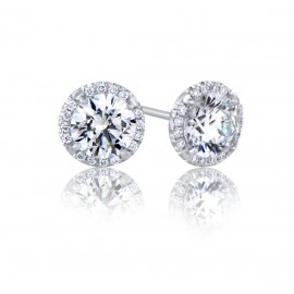 GIA Glamour 0.90cts F VS1 Round Brilliant Diamond
