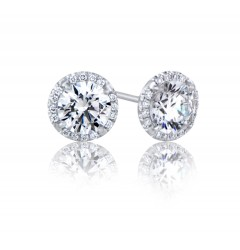 GIA Glamour 0.90cts (x2) F VS1 Round Brilliant Diamond