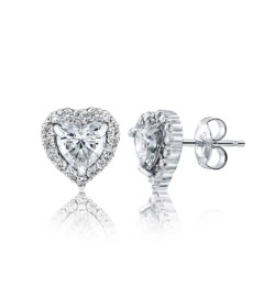 Caraters Glamour 0.50 cts (x2) E VS Heart Brilliant Diamonds