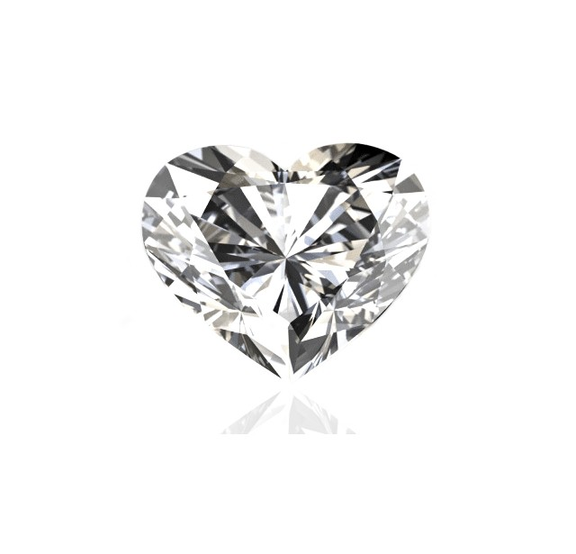 GIA Certified 2.06 cts F SI1 Heart Shaped Solitaire Diamond B-2-B