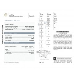 GIA Certified 0.34cts E VS1 Round Brilliant Diamond