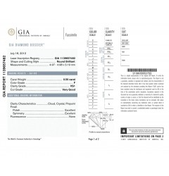 GIA Certified 0.50 cts F VS1 Round Brilliant Diamonds