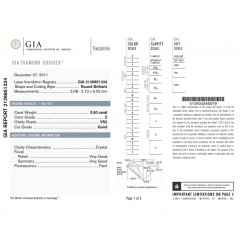 GIA Certified 0.50 cts E VS1 & VS2 Round Brilliant Diamonds
