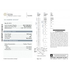 GIA Glamour 0.50cts E VS1 Round Brilliant Diamond
