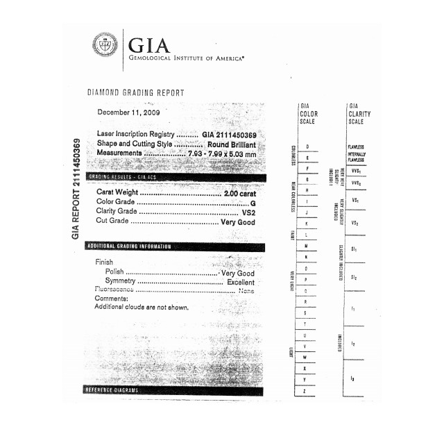 GIA Certified 2.00 cts G VS2 Round Brilliant Solitaire Diamond B-2-B